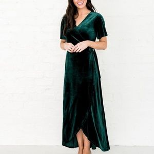 Rachel parcell green dress